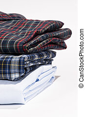 Stack of folded shirts