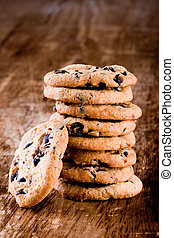 stack of fresh baked cookies