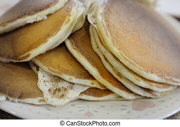 Stack of Fresh Homemade Pancakes Breakfast Food