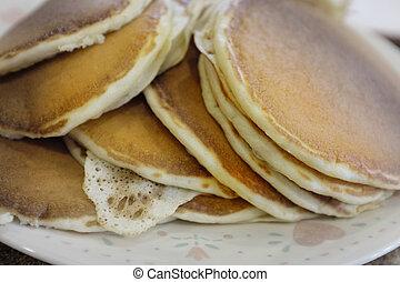 Stack of Fresh Homemade Pancakes Breakfast Food