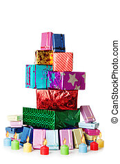 Stack of gift boxes | Isolated