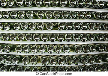 Stack of glass bottle