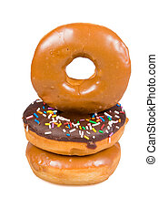Stack of glazed donuts