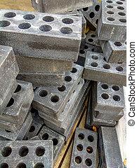 brick with a rectangular holes