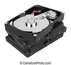 stack of hard disk