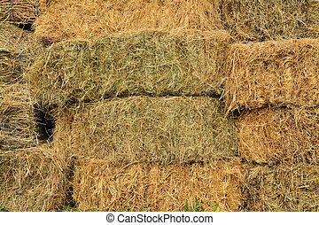 stack of hay bales