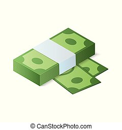 Stack of. Isometric vector illustration