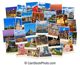 Stack of Istanbul Turkey travel images - nature and...