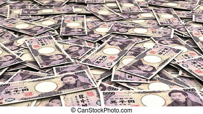 Stack of Japanese Yen (seamless)
