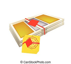 Stack of Joss Paper for Chinese New Year