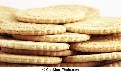 Stack of lean cookies - Rotating multi-storey stack of lean...