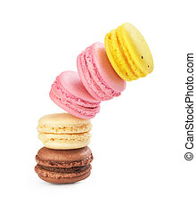stack of macaroons on a white background