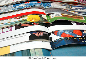 Stack of magazines - Stack of  color magazines