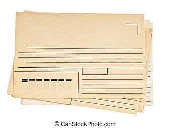 stack of mail envelopes