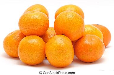 Stack of mandarines