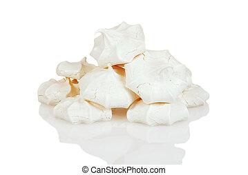stack of meringue cookies