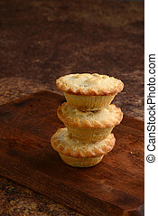 stack of mincemeat pies