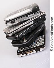 Stack of modern mobile mhones