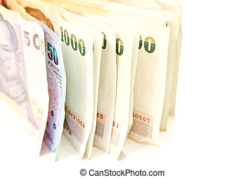 Stack of money isolated