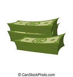 Stack of money on white background. Lot of cash. pile of dollars isolated