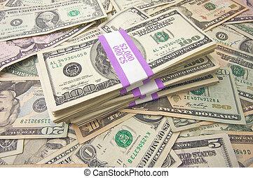 Stack of Money - Stacks of Unites States Money Background -...