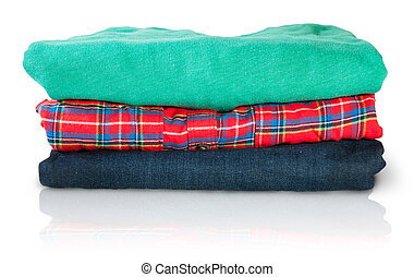 Stack Of Multicolored Casual Clothes