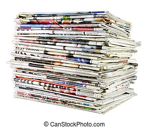 stack of newspapers 02 - large stack of folded newspapers...