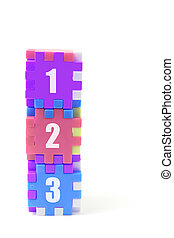 Stack of Number Puzzle Cu