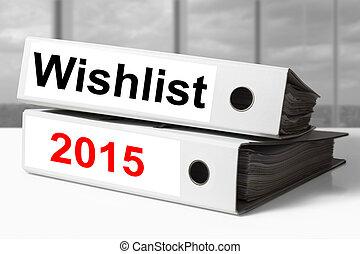 stack of office binders wishlist 2015