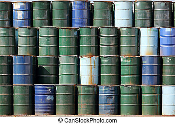 oil barrels - stack of oil barrels