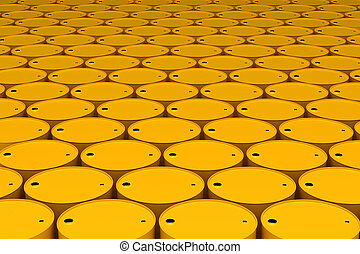 Stack of Oil Barrels