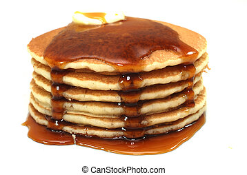 Stack of Pancakes and Syrup - Stack of pancakes and syrup...