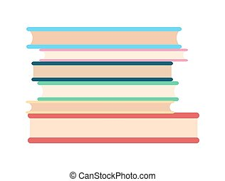 Stack of Paper Books Icon Vector Illustration