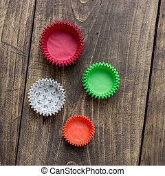 Stack of paper cupcake cups