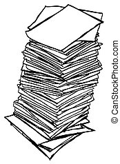 Stack of Paper - Vector Stack of Paper