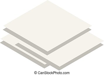 Stack of paper icon, isometric style - Stack of paper icon....