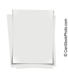 Stack of paper leaf on white background