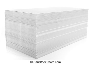 stack of paper - set of stack of white paper on white ...