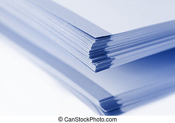 Stack of papers - Stack of big book papers on white ...