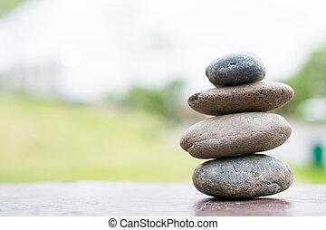 Stack of pebble stones