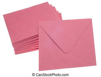 Stack of Pink Invitation Envelopes