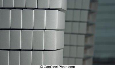 Stack of plain white boxes.
