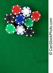 Stack of poker chips