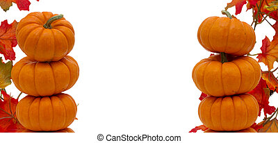 Stack of pumpkins border