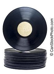 Stack of Retro Vinyl Long Play Records