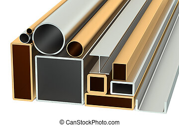 Stack of Rolled Metal Products