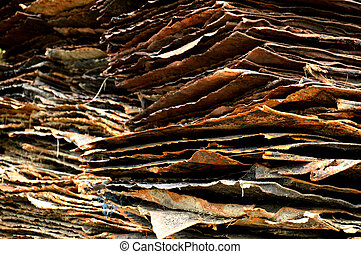 stack of rusty iron plate