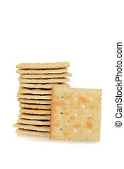 stack of salted crackers
