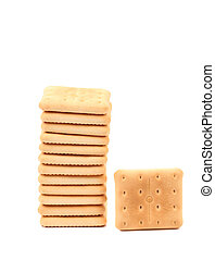 Stack of saltine soda crackers