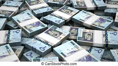 Stack of Saudi Arabian Riyals (seamless)